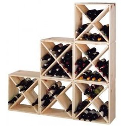 wood wine rack stack